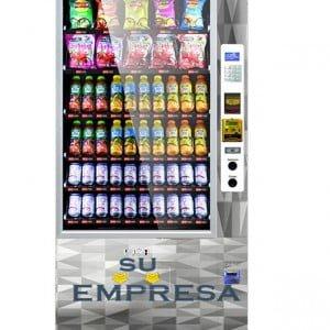 maquina vending con logo de la empresa propio