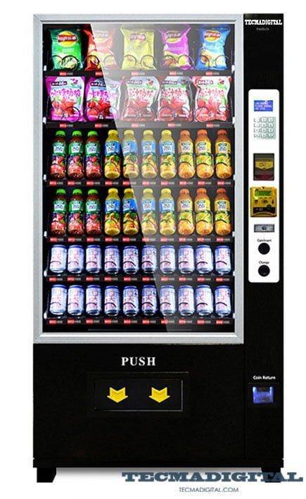 mostrar como es la máquina vending por fuera